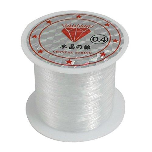 Lopbinte 15.4 kg 0.4 mm diámetro rebordear hilo de nylon transparente pesca carrete