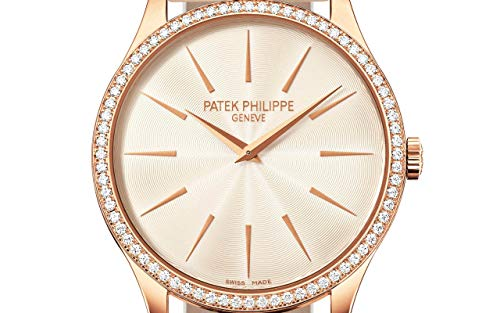 Patek Philippe Calatrava Rose Gold 4897R-010 with Cream-Colored Guilloched dial