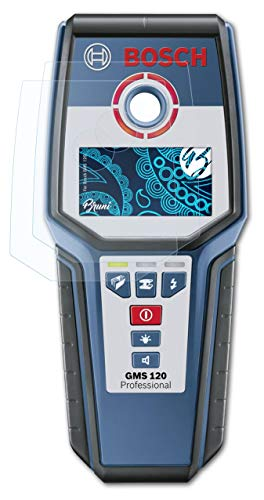 Bruni Schutzfolie kompatibel mit Bosch GMS 120 Folie, glasklare Displayschutzfolie (2X)