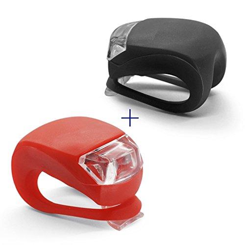 Grenhaven Mini Luce LED Silicone Lampada LED Bici, Custodia in Silicone, Accessorio per Bici, Escursione a Piedi, Passeggiate, Illuminazione Passeggino