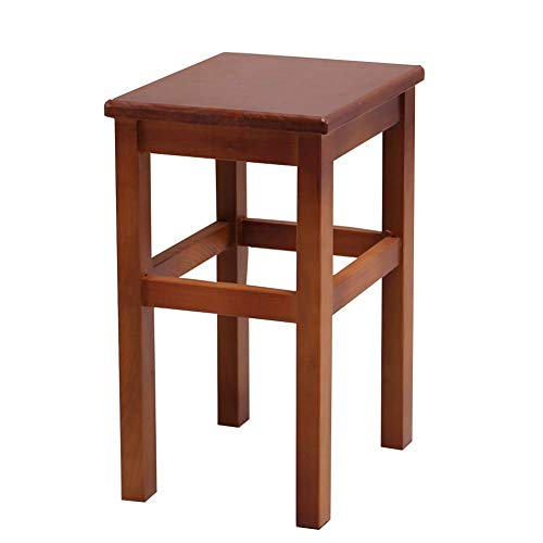 YLCJ Square bank massief hout voor volwassenen eettafel voor kinderen Chinese houten kruk hoge houten kruk mode houten bank (kleur: koffie Kleur Maat: 24 * 32 * 43 cm) 24 * 32 * 43cm Coffee Color