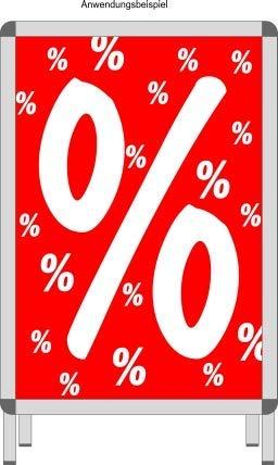 % frameaffiche percentage tekens van papier voor zalen en kortingen - DIN A1 frame