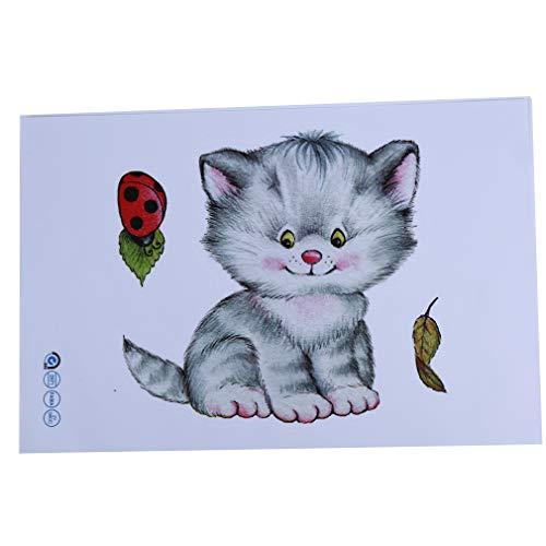 Yinew simulation cartoon cat wc aufkleber wasserdicht abnehmbare wandkunst aufkleber diy badezimmer dekor hause esszimmer dekorationen, 3#