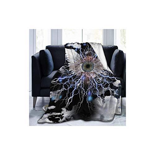 Tutui Manta de forro polar con ojos estrellados de rayo, supersuave, hipoalergénica, felpa, para sofá, sala de estar, dormitorio, regalos