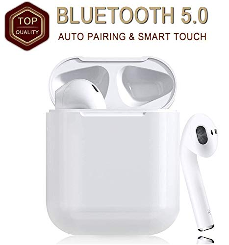 Wireless Earbuds Bluetooth 5.0, Bluetooth Earbuds, Noise Canceling IPX5 Waterproof Sports Headphones, Pop-ups Auto Pairing with Mini Charging Case, Built-in Mic, for Android/iPhone Apple Airpods