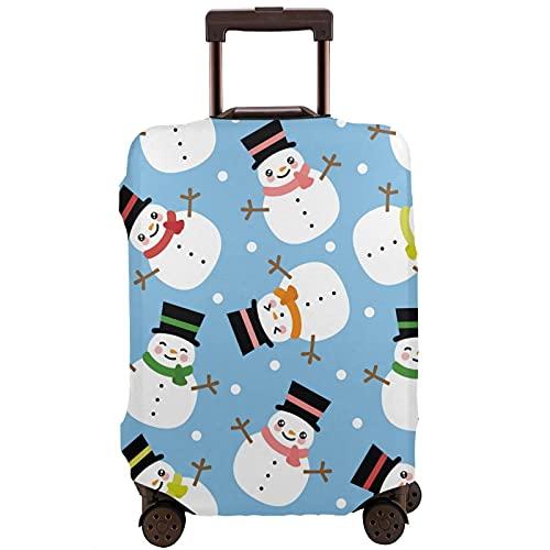 COSNUG Funda para equipaje (solamente) Invierno Navidad muñeco de nieve patrón viaje maleta protector equipaje caso para 18-32 pulgadas, multicolor, 90