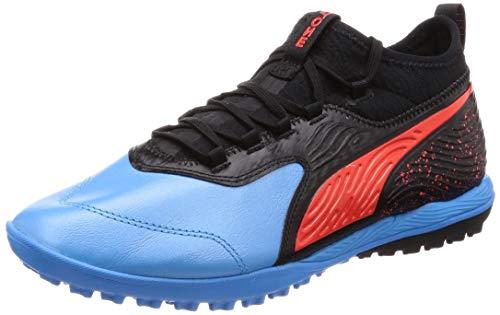 Puma ONE 19.3 TT, Herren Fußballschuhe, Blau (BLEU Azur-RED Blast-PUMA Black 01), 42 EU (8 UK)