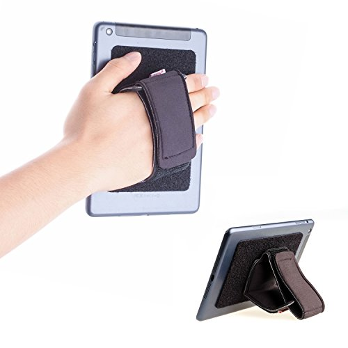 TFY Padded Hand-Strap Plus Hook & Loop Fastening Tape Adhesive Patch - DIY Detachable Hand-Strap for Smartphone, Tablet PC and More - iPhones - iPad Pro 9.7/12.9 Inch and Other Tablets