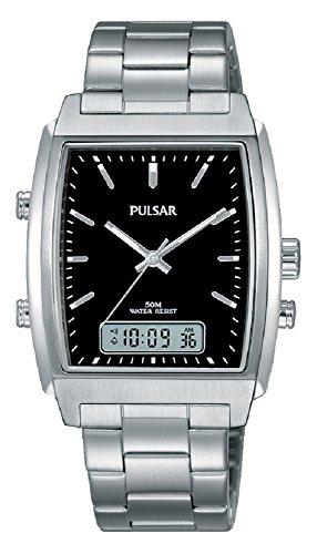 Pulsar–Orologio da polso uomo analogico–digitale al quarzo acciaio inossidabile pbk031X 1