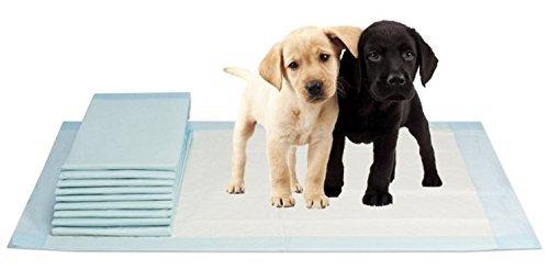 VIDIMA Puppy-Pads in der Größe 60x90 cm | 100 Stück | mehrlagige Welpenunterlage für Tiere bei Inkontinenz | ideal als Trainingsunterlage bei Hunde-Training | saugstarke & rutschfeste Unterseite