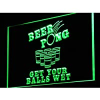 ADVPRO i939-g Beer Pong Get Your Balls Wet LED看板 ネオンプレート サイン 標識