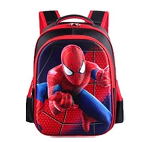 Superhéroe Spiderman Mochilas Adolescentes Mochila Impermeable Ligera Mochila portátil Halloween Mochila de Gran Capacidad,Red-Small