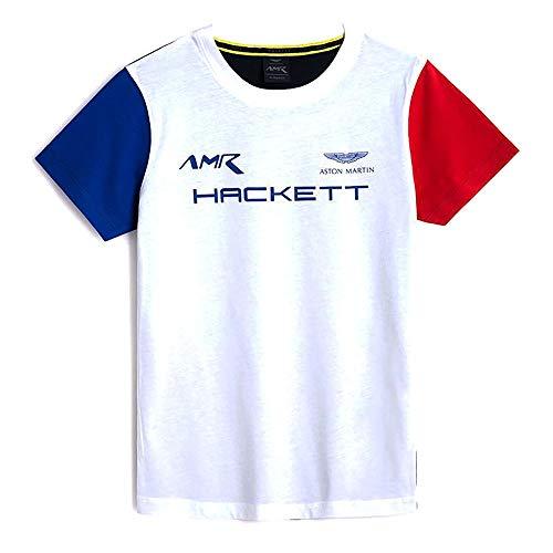 Hackett London AMR Multi tee Y Camiseta, Blanco y Multicolor, 9 años para Niños