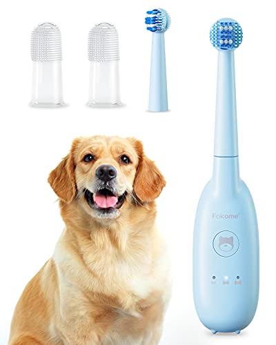 Dog Electric Toothbrush, Pet Toothbrush with 3 Modes, 2...