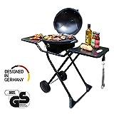 SUNTEC Barbecue elettrico BBQ-9295 [utilizzabile come griglia da tavolo, incl. 2 ripiani, termostato...