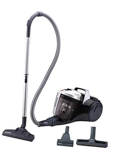 Hoover Breeze BR30PET - Aspirador sin bolsa, Aspirador ciclónico, Cepillo especial para pelo de mascota, Cepillo parquet, Filtro EPA, 550W, Depósito 2L, 78dBA, Potencia fija, Cable 8m, Color gris