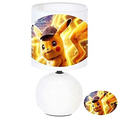 Lampe de chevet PIKACHU POKEMON DÉTECTIVE - création artisanale - Personnalisé avec le prénom de l'enfant N° 1 (produit Français)