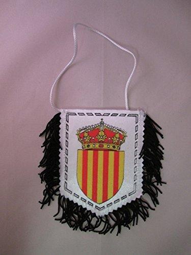 AZ FLAG Fanion Catalogne 15x10cm Polyester cartonné - Mini Drapeau Catalan 10 x 15 cm - Bannière