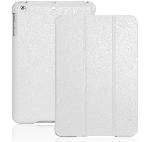 INVELLOP iPad Mini case, Concrete White/Light Gray Leatherette Case Cover for Apple iPad Mini/iPad Mini 2 / iPad Mini 3 (Concrete White/Light Gray)