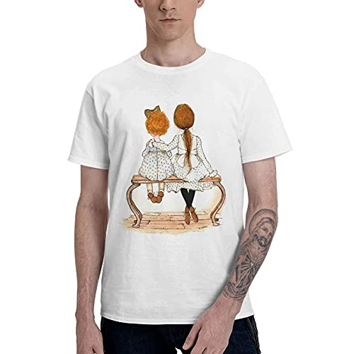 COOTHING Holly Holly Hobbie Blue Mens Breathable Casual Printed Basic Crew Neck White T Shirt Apparel