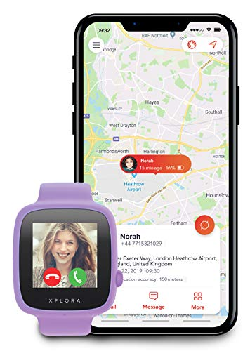 XPLORA GO - Teléfono reloj para niños (SIM no incluida) - Llamadas, mensajes, modo...