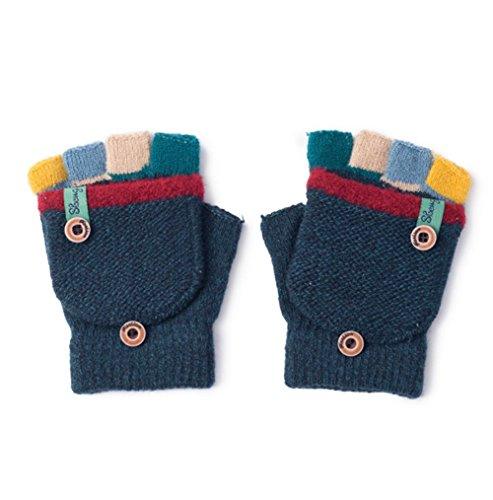 Pormow Pormow Herbst und Winter Baby Warme Handschuhe Kind Gestrickte Fäustlinge,3-6 Jahre alt