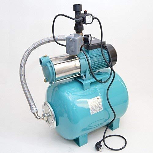 Huiswaterpomp 50 liter met MHI 1300 watt pompdebiet: 6000 l/h + geïntegreerde thermische beveiligingsschakelaar met pompregeling + droogloopbeveiliging + terugslagklep.