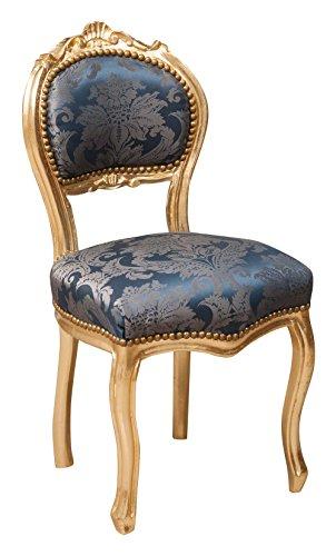 Sillón de estilo francés Luis XVI en madera maciza de haya L42XPR45XH90 cm