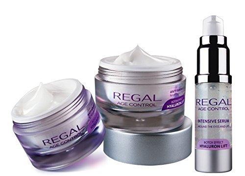 Regal Age Control - Set mit 3 Falten-Cremes - Tagescreme, Nachtcreme und Augenserum