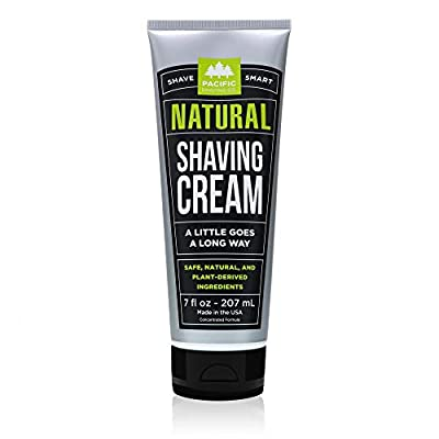 Pacific Shaving Company Natural Shave Cream - with Safe, Natural, and Plant-Derived Ingredients for a Smooth Shave, Healthy, Hydrated, Softer Skin, Less Irritation, Cruelty-Free, 7 oz