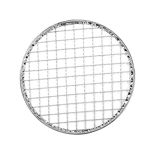 iiniim Grillrost Runder Grillrost aus Metall Einweg-Grill BBQ Grillgitter für Holzkohlegrill, Gasgrill, Schwinggrill Silber 24cm Einheitsgröße