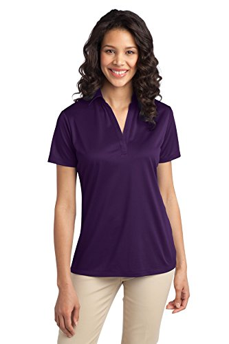 Port Authority Ladies Silk Touch Performance Polo, Bright Purple, XX-Large
