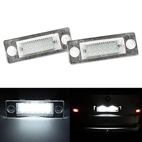 2 Stück LED Kennzeichenbeleuchtung, Ersatz für VW Golf 5 Plus, Caddy III, Passat Cimousint, Passat Combi/Variant, Transpiarter/T5, Jetta, Superb