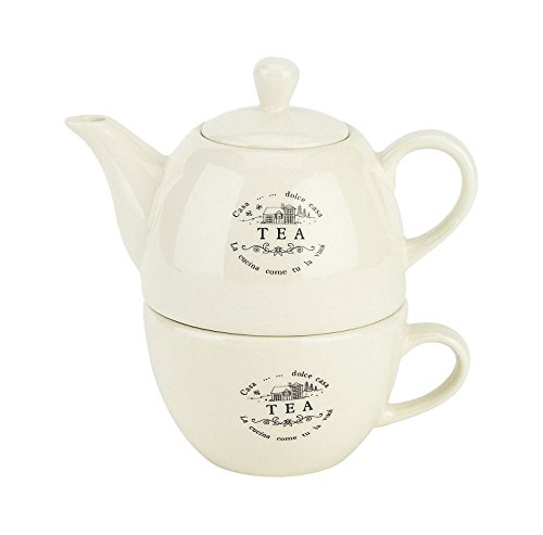 Tognana Sweet Campania Home Theepot met Beker, Wit