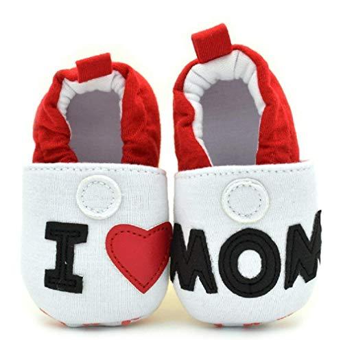 Schuhe – Baby – I Love Mom – Ti Amo Mama, Weiß - Weiß - Größe: 6-9 mesi