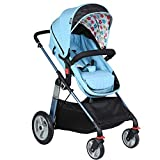 YL Kinderwagen Adjustable, Hoch Landschaft R, Travel System, Kompakte Und Leichte Sportkinderwagen, Recline-Baby-Buggy for Flugzeug-Ultra-Leicht-Baby-Trolley (Color : Blue)