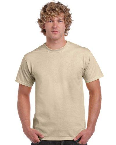 Gildan Herren Heavy Cotton Tee T-Shirt, Gelb (Sand), S