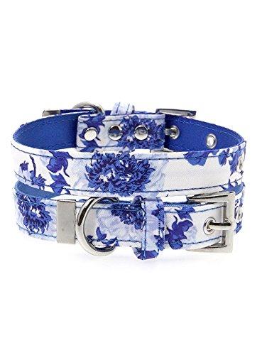 UrbanPup Bleu Collier en tissu Bouquet de fleurs