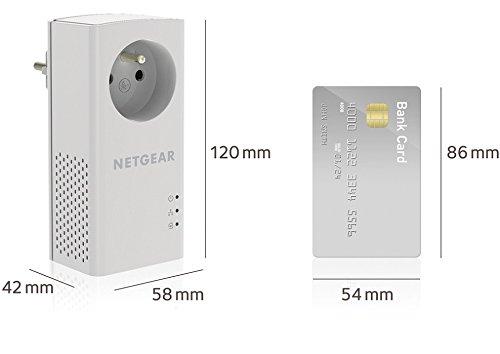 NETGEAR PLP1000-100FRS Pack de 2 prises CPL 1000 Mbps avec Prise Filtrée, et 1Port Ethernet, idéal pour avoir Internet Partout dans la Maison et Profiter du service Multi-TV à la maison sans WiFi