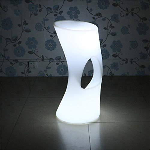 ☀ JBD Nordic Creative Tabouret De Bar LED Illumination Haut Pied Chaise Mode Café Comptoir Siège 16 Couleurs Télécommande Décolorer