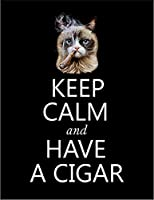 【FOX REPUBLIC】【KEEP CALM タバコ 猫 ねこ】 黒マット紙(フレーム無し)A2サイズ