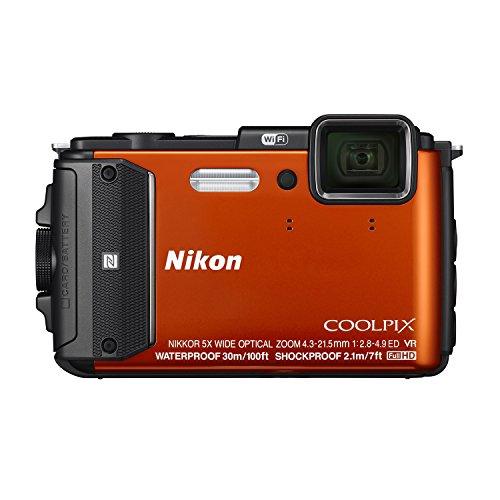 Nikon Coolpix AW130 Shock & Waterproof GPS Digital Camera (Orange)