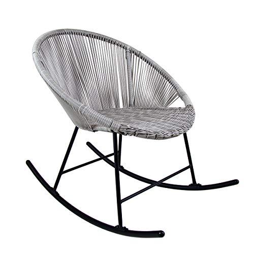Charles Bentley Bali Schaukel im Freien Garten Patio Stuhl - Praktisch & Stilvoll mit Pulverbeschichtet Stahl Struktur in Natürlich