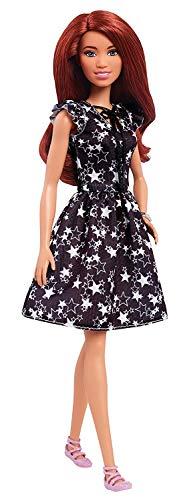 Barbie- Fashionistas Bambola in Abito da Stella in Bianco E Nero, Multicolore, FJF39