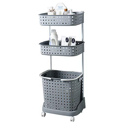 LwLaundry Basket wasmand 2/3-traps wasmand, grote vuilwasmand sorteerder voor de badkamer, voor het wassen in de badkamer