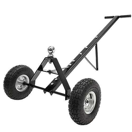 ECD Germany Rangierhilfe für Anhänger & Wohnwagen bis 272 kg, ca. 111 x 64 x 41 cm, aus Stahl, mit gummierter Handgriff, 2 Räder, stabil, Rangierwagen Campingwagen Fahrgestell Trailer