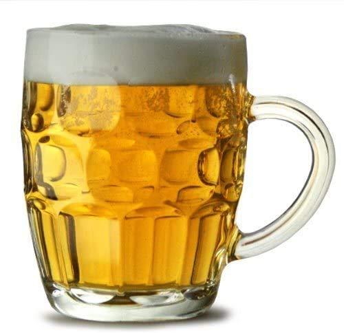 CoK Blumian Deals -Jarras de Cerveza Pinta Británica, Jarras de Cristal,de 56 cl, Pack de 4