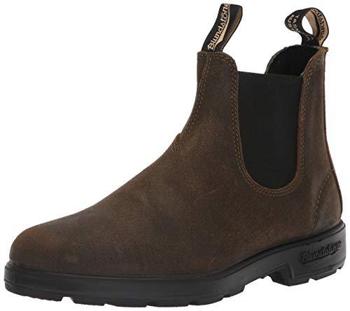 Blundstone Unisex 1615 Suede Textile Dark Olive Boots 10 W / 8 M US