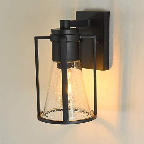 Attic vintage lámpara de pared impermeable al aire libre Motent industrial retro lámpara de pared de vidrio de hierro antiguo minimalismo Luz