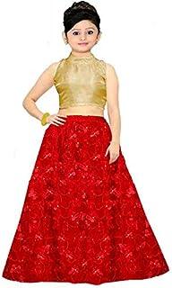 Ocean Fashion Black Color Net Latest Butterfly Design Kids Girls Kids Lehenga Choli (Suitable To 8-13 Year Girls)